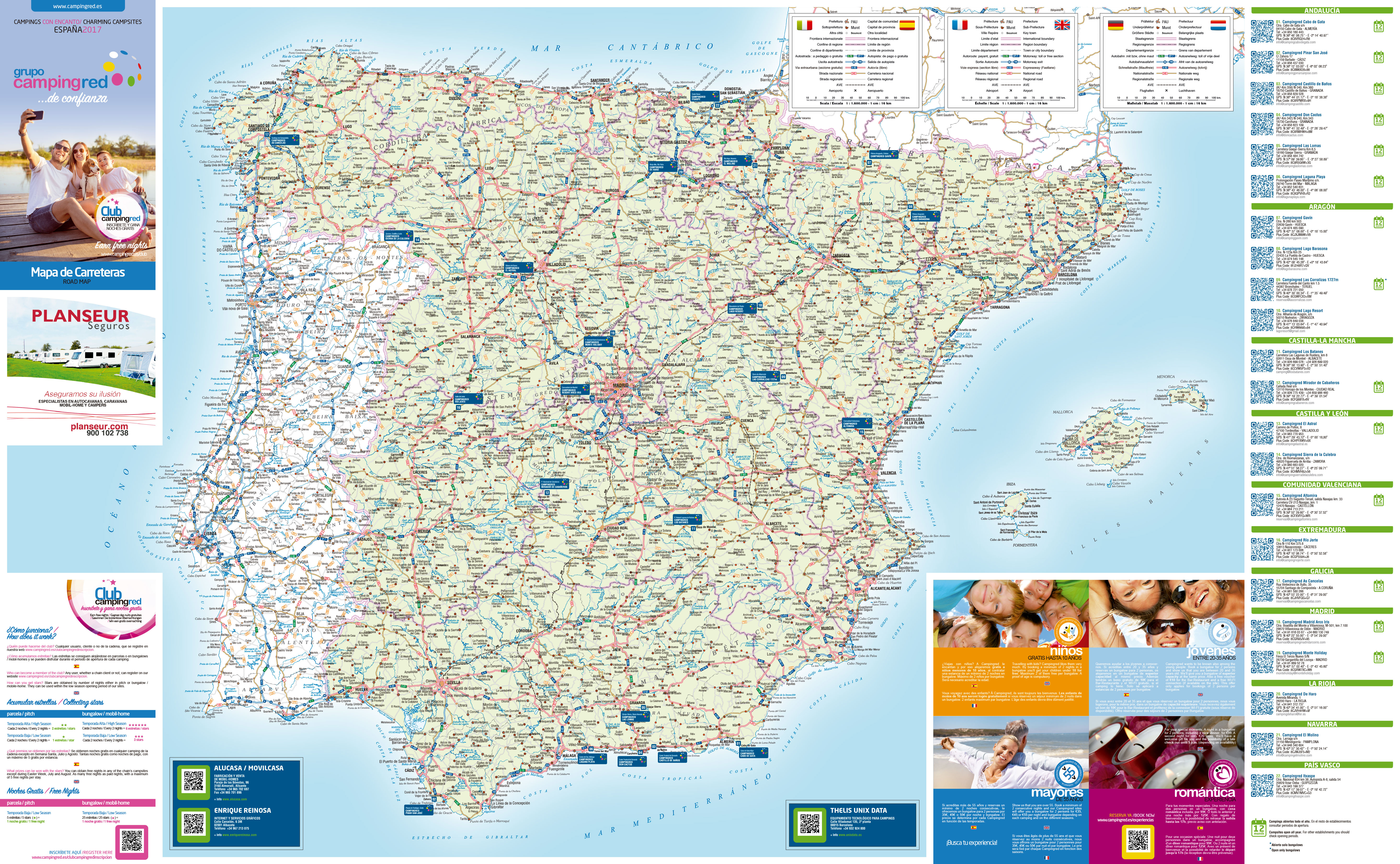 Grupo Campingred Campsites and Bungalows in Spain